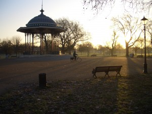 Bandstand on nearby Clapham Common