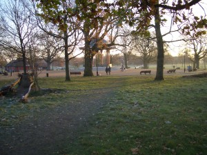 View on nearby Clapham Common